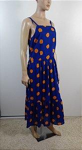 Richards - Vestido longo azul