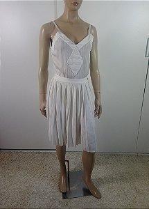 Chanel - Vestido trico saia plissada