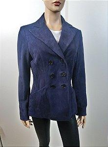Dior - Jaqueta em camurça azul