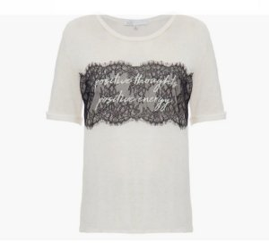 Talienk - T-shirt Linho renda - Off white