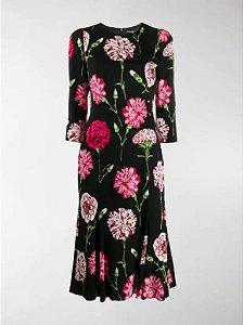 Dolce Gabbana - Vestido midi com estampa Carnation