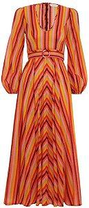 Zimmermann - Goldie Rainbow Plunge Dress