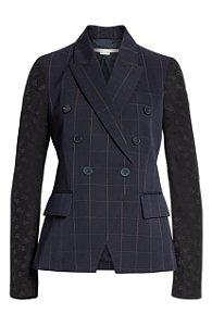 Stella McCartney - Pajama Sleeve Check Wool Jacket in Blue