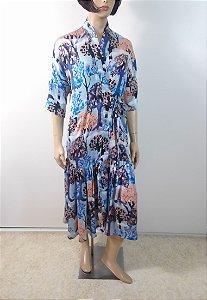 Alix - Vestido cachecour em seda