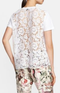 Valentino - T shirt renda nas costas