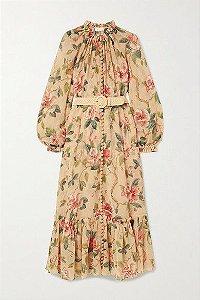 ZIMMERMANN - Vestido midi floral (nova coleção)