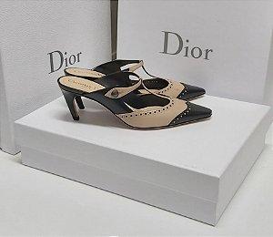 Dior - Mule Bicolor (Beige/preto)