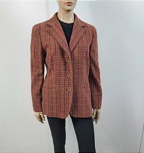 Max Mara -  Blazer xadrez em lã