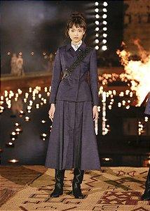 Christian Dior-  Casaco shantung  Azul