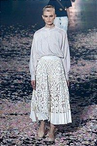 Christian Dior-  Saia recortes em couro