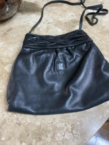 Fendi - Vintage crossbody Lather black Bag