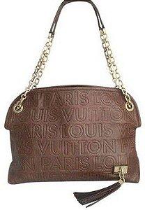 Louis vuitton - Limited Edition Chocolate Leather Paris Souple Whisper PM Bag