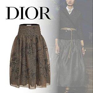 Christian Dior  | Padrões de flores Tecidos mistos de linho e seda de nylon / SS 2020