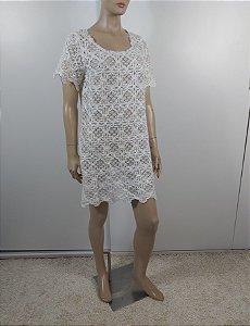 Farm - vestido curto off white