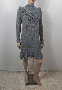 Iorane -  Vestido em tricot cinza