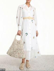 Zimmermann -  Vestido longo chemise bordado