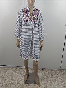 Anany -  Vestido bordado