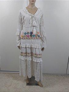 Mariana Penteado - Vestido bordado