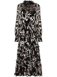 Zimmermann - vestido longo com babados estampado floral