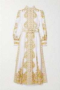 Zimmermann - Vestido midi em linho / (nova coleção)