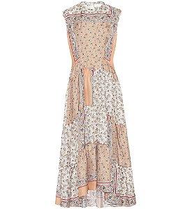Chloe - Vestido estampado em sarja de seda