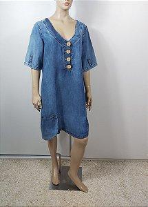 Rouvaplas - Vestido azul jeans