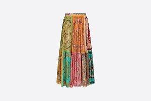 Christian Dior - Saia longa voil multicolorida in Light