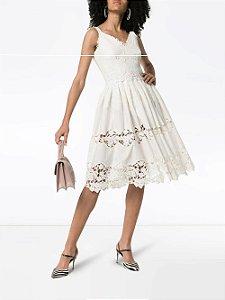 Dolce Gabbana - Vestido branco gripure