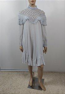 Chloé - Vestido curto em crepe de seda