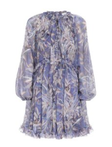 Zimmermann - Mini vestido em seda estampa / 2021