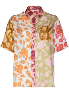 Zimmermann - Camisa de seda com estampa de rosa