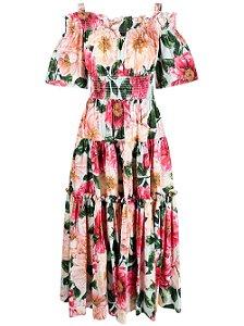 Dolce Gabbana - Vestido com estampa floral