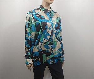 Salvatore Ferragamo - Camisa estampada em seda