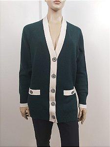 Chanel - Cardigan Cashmere verde