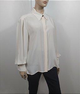 Chanel - Camisa Off White em seda