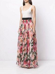 Dolce & Gabbana  -  Saia longa com estampa de floral