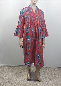 Kashish -  Vestido midi algodão