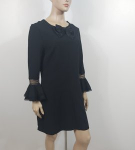 Yves Saint Laurent - Vestido curto preto
