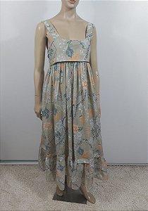 Chloé - Vestido longo em algodão