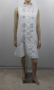 Chanel - Vestido off white paetes