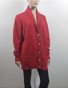 Chanel - Maxi Cardigan vermelho