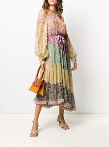Zimmermann - Vestido de seda com estampa floral Carnaby
