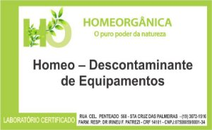 Homeo – Descontaminante de Equipamentos