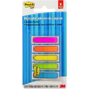 BANDEIRAS SETA 5 CORES C/100 POST-IT