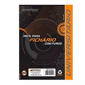 BLOCO P/FICHARIO UNIV. 96FLS 4 FUROS