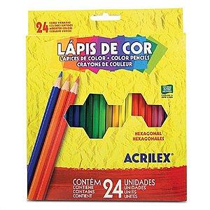 LAPIS DE COR LONGO 24 CORES ACRILEX