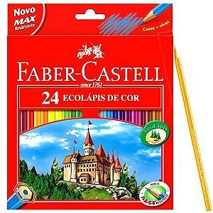 LAPIS DE COR LONGO 24 CORES FABER CASTEL