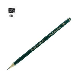 LAPIS PRETO N.6 B FABER CASTEL 9006B