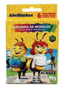 MASSA DE MODELAR 6 CORES C/90GRS