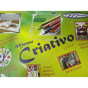 PAPEL CRIATIVO ESCOLAR 8 CORES C/24UND